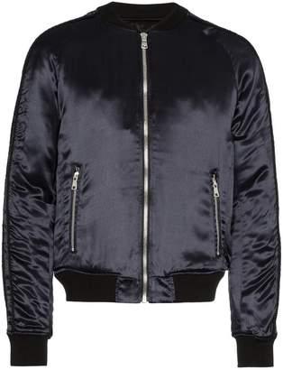 Balmain Galaxy logo print bomber jacket