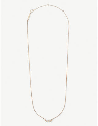 Kendra Scott Katy 14ct rose-gold and diamond necklace