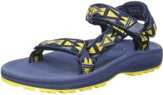 Teva Kid's Hurricane 2 Sandals, Mosaic Navy/Yellow