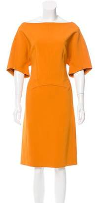 Narciso Rodriguez Short Sleeve Midi Dress