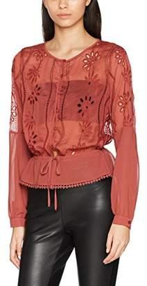 New Look Women's Cutwork Peplum Shell Blouse,Size 8