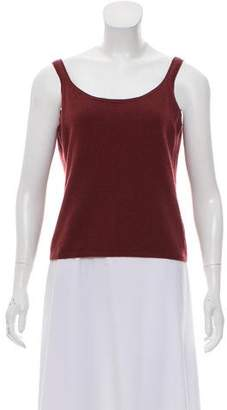 Prada Sleeveless Cashmere Top