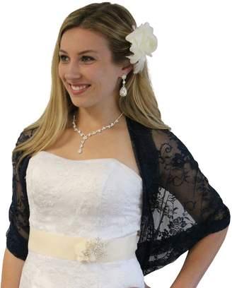 Tion Bridal Lace Bridal Bolero Wedding Shawl