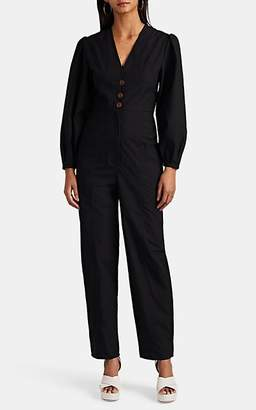LES COYOTES DE PARIS Women's Eve Cotton Poplin Jumpsuit - Black