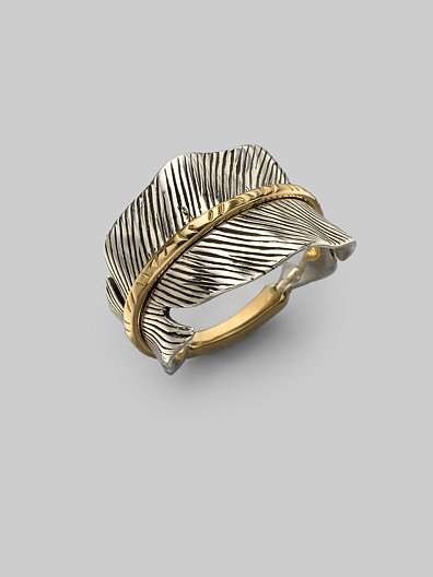 Elizabeth and James Sterling Silver & 14K Yellow Gold Ring