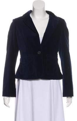 Burberry Velvet Button-Up Blazer w/ Tags