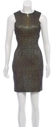 Versace Sleeveless Metallic Dress