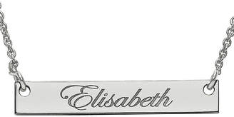 FINE JEWELRY Personalized 4x26mm Script Name Bar Necklace