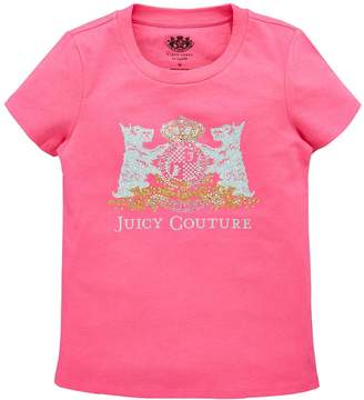 Juicy Couture Girls Scottie Crest Short Sleeve T-shirt
