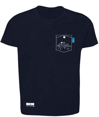 ANCHOR & CREW - Oxford Blue Horizon Print Organic Cotton T-Shirt Mens