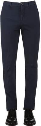 Lardini 18cm Stretch Cotton Poplin Pants