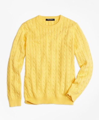 Brooks Brothers Crewneck Cable Sweater