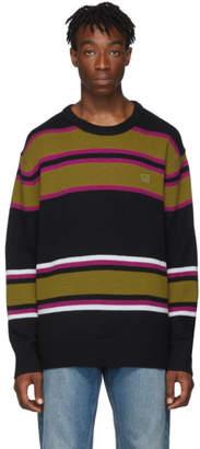 Acne Studios Black Wool Striped Nimah Sweater
