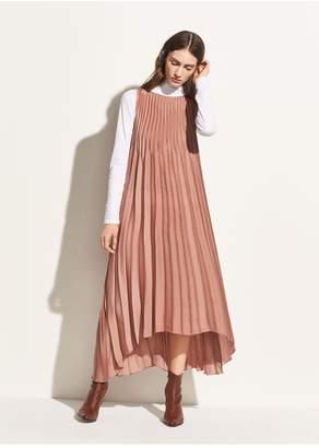Vince Chevron Pleated Dress
