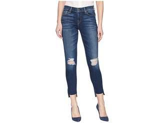 7 For All Mankind The Ankle Skinny w/ Destroy Step Hem in Midnight Desert 2 Women's Jeans