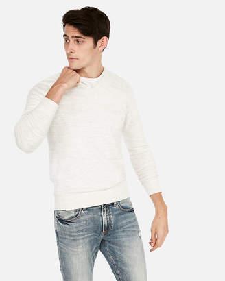 Express Wool-Blend Space Dye V-Neck Sweater