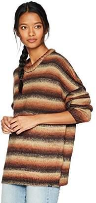 Obey Junior's Striped Skelter Crewneck Sweater