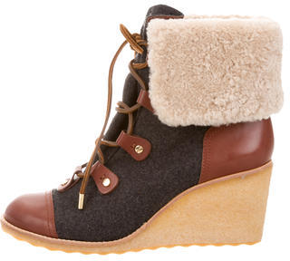 Tory BurchTory Burch Flannel Wedge Ankle Boots