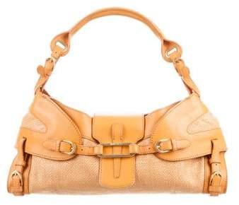 Jimmy ChooJimmy Choo Leather & Raffia Tulita Bag
