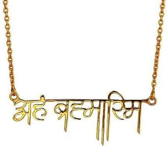 Eina Ahluwalia Aham Brahmasmi Necklace (Hindi)