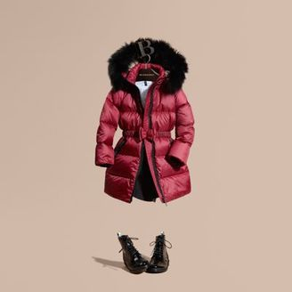 Burberry Down-filled Coat with Detachable Fox Fur-trimmed Hood $595 thestylecure.com