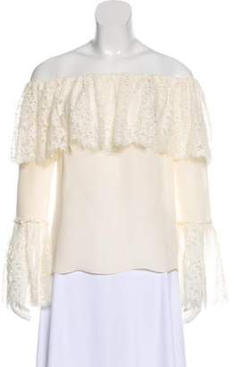 Rachel Zoe Silk Off-The-Shoulder Top