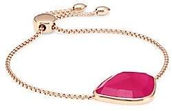Monica Vinader Siren Nugget 18K Rose Gold Vermeil& Rose Quartz Chain Bracelet