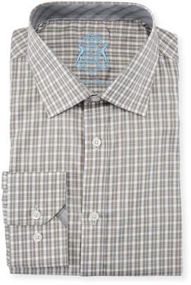 English Laundry Classic-Fit Check Dress Shirt, Gray