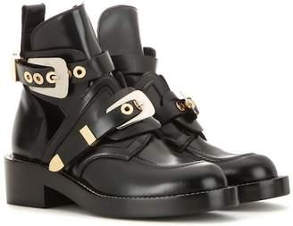 Balenciaga Ceinture leather derby boots