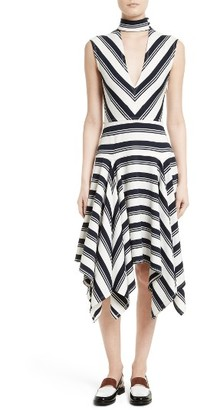 Women's Rachel Comey Stripe Cutout Dress $395 thestylecure.com