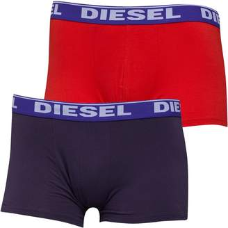 Diesel Mens Shawn Two Pack Boxers Navy Red Blue eafea1b8a