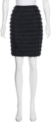 Balenciaga Silk Raw-Edge Skirt