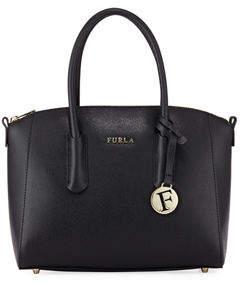 Furla Tessa Small Saffiano Leather Satchel Bag