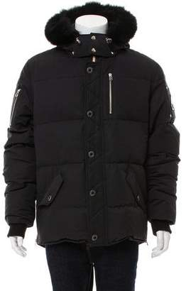 Moose Knuckles Fox-Trimmed Down Coat w/ Tags