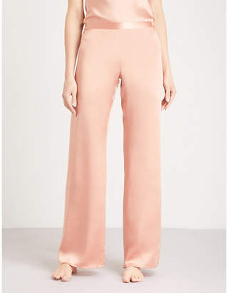 Marjolaine Soie Unie silk-satin pyjama bottoms