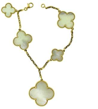 Van Cleef & Arpels Magic Alhambra 18K Yellow Gold White Mother of Pearl Bracelet