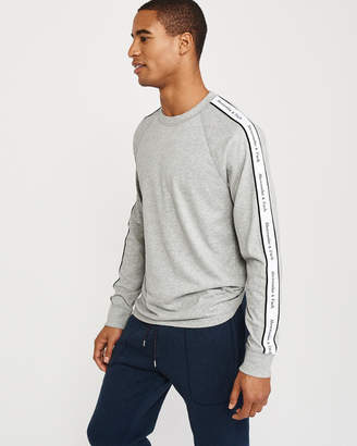 Abercrombie & Fitch Long-Sleeve Logo Tape Tee