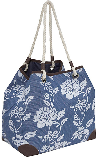 Magid Paper Straw flower print 4-poster bag