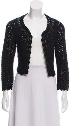 Diane von Furstenberg Crochet Open Front Bolero Jacket