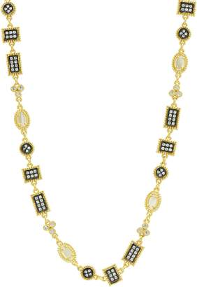 Freida Rothman Imperial Pave Crystal & Mother of Pearl Necklace