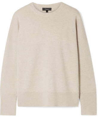 Theory Wool-blend Sweater - Cream