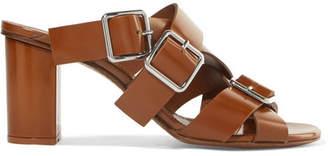 Jil Sander Buckled Leather Sandals - Brown