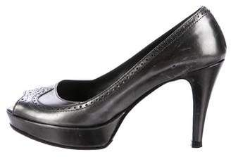 Fratelli Rossetti Metallic Brogue Pumps