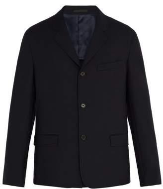 Stella McCartney Three Button Single Breasted Wool Blazer - Mens - Navy