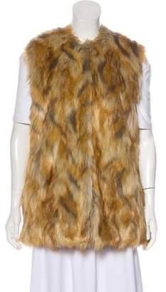 Bernardo Faux Fur Longline Vest w/ Tags