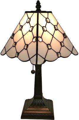 Tiffany & Co. AMORA Amora Lighting AM213TL08 Style Jeweled Finish Mission Table Lamp 15 inches