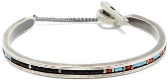 M. Cohen Beaded Sterling Silver Cuff - Mens - Silver