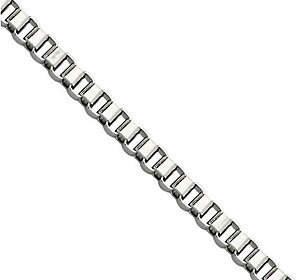 "Steel by Design Stainless Steel 3.2mm 20"" Box Chain Necklace"