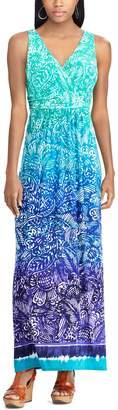 Chaps Women's Paisley Surplice Maxi Dress