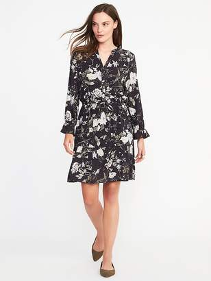 Ruffle-Trim Shirt Dress for Women $36.99 thestylecure.com